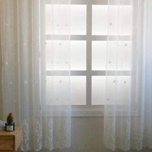 White Europe Solid White Yarn Curtain Window Tulle Curtains For Living Room Kitchen Decro Modern Window Treatments Voile Curtain