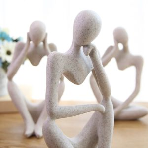 Forgetive Resin Statues Creative Abstract Thinker People Sculptures Miniature Figurines Craft Office Home Decoration Accessories