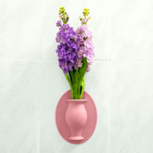 Silicone Sticky Vase Stick On The Wall Flower Pot Magic Flower Plant Vases Flower Container For Home Offices Home Decorations