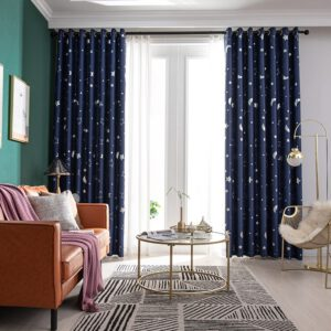 Modern Blackout Curtains For Window Blinds Roller Blinds Bedroom Curtains Living Room Compartment Insulated Window Shades Navy