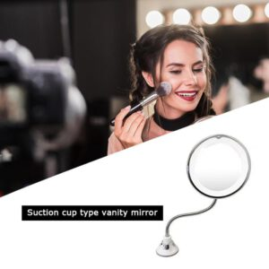 360 Rotation Make Up Mirror LED Fogless Suction Cup Shower Shave Make Up Fog Free Mirror Natural Light Folding Makeup Accessory