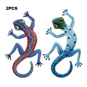 2pcs Gecko Home Metal Wall Hanging Hardware Handicraft Pendant Customization of Metal Products Processing