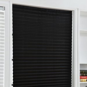 Self-Adhesive Windows Blinds Half Blackout Curtains for Bathroom Balcony Shades for Living Room Window Door Decor