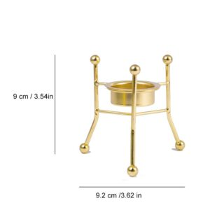 Ins Love Heart Metal Geometric Gold Candle Holder Ornament Candlelight Candle Stand Dinner Table Decor Wedding Party Candlestick