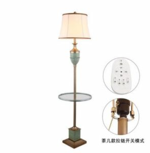 American minimalist coffee table floor lamp American country blue living room bedroom bedside standing lamp
