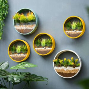 Wall Vase Home Living Room Restaurant Hanging Flower Pot Wall Decor Succulent Plant Planters Glass Vases Home Decoration Crafts