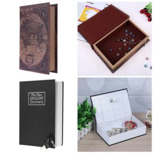 English Dictionary Shape Money Saving Box Safe Book Coin Piggy Bank with Key Cash Coins Saving Boxes Lock-up Storage Box