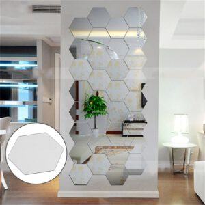 Hexagonal 3D Mirrors Wall Stickers Home Decor Living Room DIY Modern Art Mirror Wall Mural Decoration Vinyl Sticker