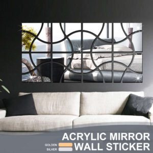 16Pcs/set Acrylic DIY Mirror Wall Stickers Environmentally Friendly High-quality Living Room Bedroom Decorative Mirror