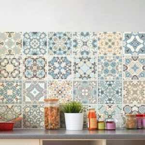 24pcs Modern Simplicity Waterproof Tiles Mosaic Wall Sticker Kitchen Bathroom Adhesive Decor for Tile Wall Floor Cabinet Drawer