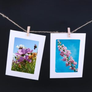 DIY Combination 10 Photo Frame+10 Clips+Rope Hanging Wall Picture Craft Party Decorations Kids Birthday Photo Frame Supplies