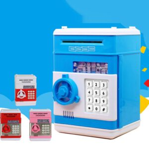 Children'S Automatic Music Simulation Piggy Bank Cash And Coins Savings Savings With The Electronic Piggy Bank