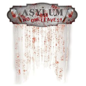 Halloween Bloody Doorway Haunted House Horror Props Hanging Banner Festival Party Home Curtain Decor