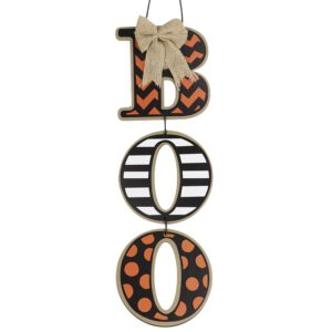 Wooden Sign Letters Door Hanging Listed Board Halloween Decorative Pendants Boo Pumpkin Door Hanging For Halloween Decorations