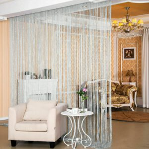 Glitter String Door Curtain Room Dividers Beaded Fly Screen Fringe Window Panel