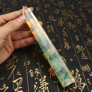 20cm Rare Citrine Quartz Crystal Wand Point Healing Crystal Stone Wand Stick Gemstone DIY Decor Crafts Home Ornament Stone