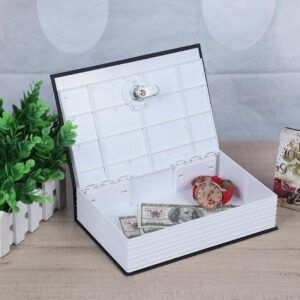 Creative English Dictionary Shape Money Saving Box Book Piggy Bank with Key Kids Toy Banknote Cash Coin Saving Deposit Boxes