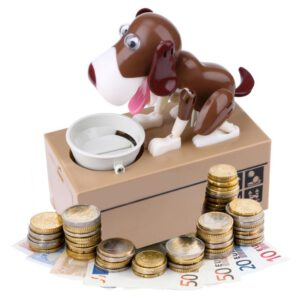 Cartoon Robotic Dog Money Box Doggy Bank Money Bank Automatic Stole Coin Money Saving Box Kids Gift