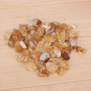 Raw Rough Citrine Stones Quartz Crystal Beads Rough Punched Natural Stone Side-Drilled Hole Nugget Bead