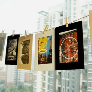 10pcs DIY Combination Wall Photo Frame Hanging Wall Photo Kraft Paper Photo Album for Card Photo Holding with Clip 3 Inch