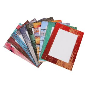 9 Pcs Combination Paper Frame with Clips DIY Kraft Paper Picture Frame Hanging Wall Photos Album 2M Rope Home Decoration Craft