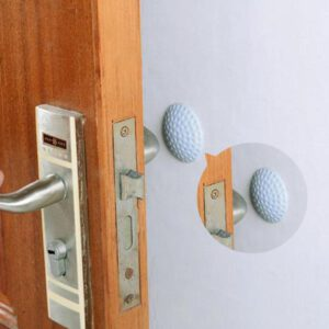Silicone Door Lock Mute Mat Anti-Collision Handle Protection Wall Sticker Pad Door Edge Safety Guards For Home Decoration