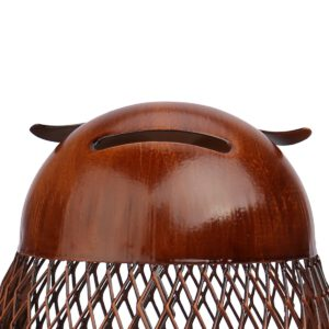 Tooarts Metal Sculpture Bird Owl Shaped Coin Box Home Furnishing Articles Crafting Favor Gift Home Decoration