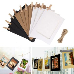 New 10 Pcs Combination Card Frame with Pliers and 2M Rope 3 inch Wall Photo Frame DIY Hanging Photo Album Home Decoration