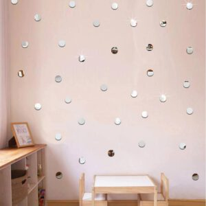 100pcs/lot 2cm Mini 3D Acrylic Mirror Wall Stickers Round Shape Stickers Decal Mosaic Mirror Effect Livingroom Home DIY Decor