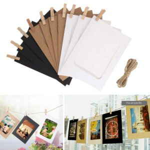 10pcs Frame for Life Recording Album Home Universal Decorations Durable Picture Frame Paper Photo Frame for DIY Album Gallery