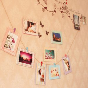 Cadre Photo Frame With Clips And Rope Inch Wall Hanging Banner Photo Frame DIY Picture Album Home Wedding Decoration