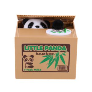 Piggy Bank Cartoon Panda Thief Piggy Bank Toy Automatic Steal Coin Piggy Bank Coin Slot Children Birthday Gift Toy