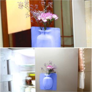 Portable Wall Mount Self-adhesion Easy Install Desktop Odorless Floret Bottle Decoration Free Punch Silicone Tear-resistant Home