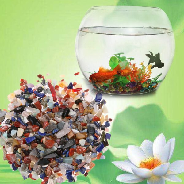 100g/Bag Irregular Tumbled Stones Gravel Crystal Healing Reiki Rock Gem Beads Chip for Fish Tank Aquarium Decoration