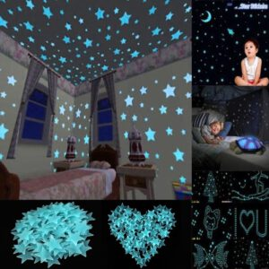 80pcs/lot Star Shape Luminous Wall Stickers Durable Home Decor Night-embellishing Gadget Home Decor for Babies Kids Bedroom