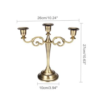 3/5 Branches Vintage Antique Metal Bronze Candelabrum Candle Holders Retro Romantic Dinner Candle Holders Wedding Party Decor
