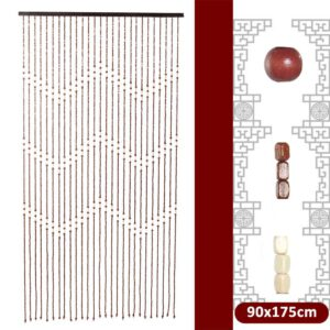 90x175cm 27 Line Wooden Blinds for Window Door Bead Curtains Fly Screen Gate Divider Sheer For Hallway Living Room Home Decor