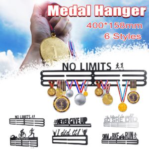 Elegant Stainless Steel Medal Hanger Medal Holder Display Rack Running Swimming Gym Marathons Bike Sport Medal Gift Decoration