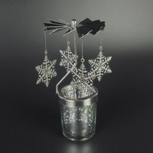 Snowflake Rotation Candlestick Butterfly Candle Holders Tea Light Holder DIY Party Table Desk Decor Candle Stand Christmas Gift