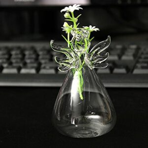 Transparent Angel Vase Crystal Glass Vase Flower Arrangement Hydroponic Container Home Decoration Wedding Decor