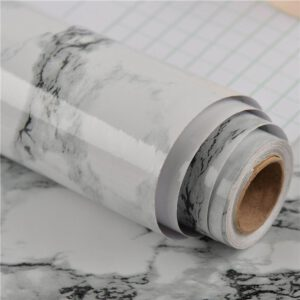 "SONGLI PVC Wallpaper Sticker(Marble) Waterproof Oilproof Self-Adhesive Backsplash for Kitchen Bathroom, 23.6""x39.4"" Roll"