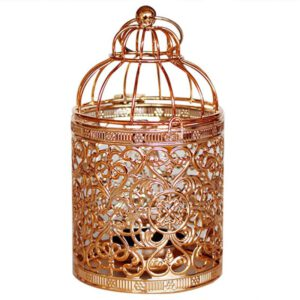 1PC Iron Vintage Hollow Holder Candlestick Birdcage Candlestick Tealight Hanging Lantern For Wedding Party Christmas Decoration