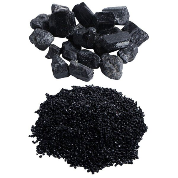 100g / 50G Natural Crystal Tourmaline Black Mineral Stone Tourmaline Granite Natural and Mineral Stone Coarse Stone Fine Stone