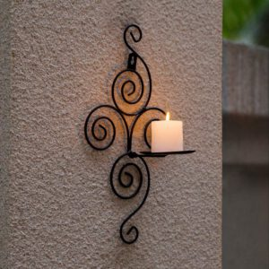 Candle Holder Shelf New Home Candlestick Holders Handmade Iron Hanging Wall Sconce Furnishing Articles Decoration