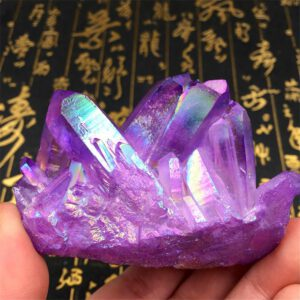 Natural Blue Cluster Crystal Gem Stone Healing Mineral Specimen Reiki Collect