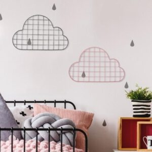 Tieyi Lattice Frame Wall Decoration Girl's Heart Room Layout Elegant and Beautiful Display Frame Cloud Shape Grid Photo Wall