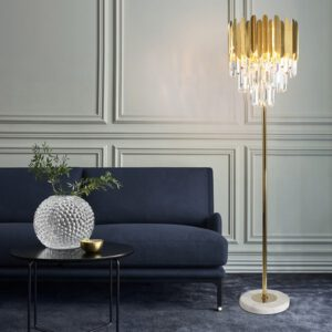 FSS Crystal Floor Lamps Stand Lamp For Living room Bedroom Gold Led Lamp Home Lighting Indoor Light Fixtures