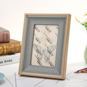 Table Photo Frame Imitation Wood Moisture-proof Certificate Frame 3D Support Crafts Ornaments Waterproof Home Decoration