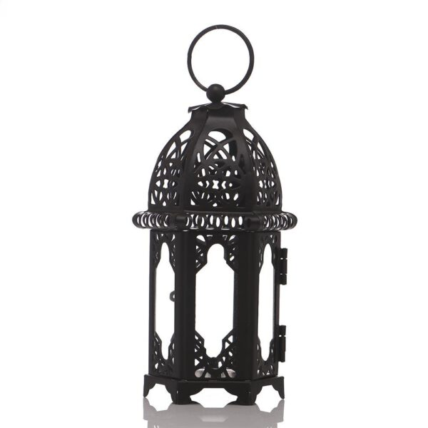 High Quality Candle Holder European Style Iron Glass Candlestick Lantern Candles Lantern Transparent Glass Free Shipping