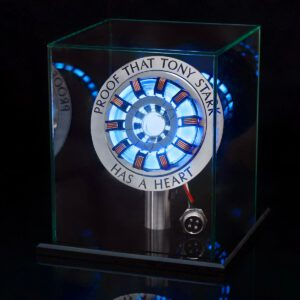 1:1 Arc Reactor Action Figure Remote Light Arc MK2 DIY Parts Model Assembled Toys Chest Lamp